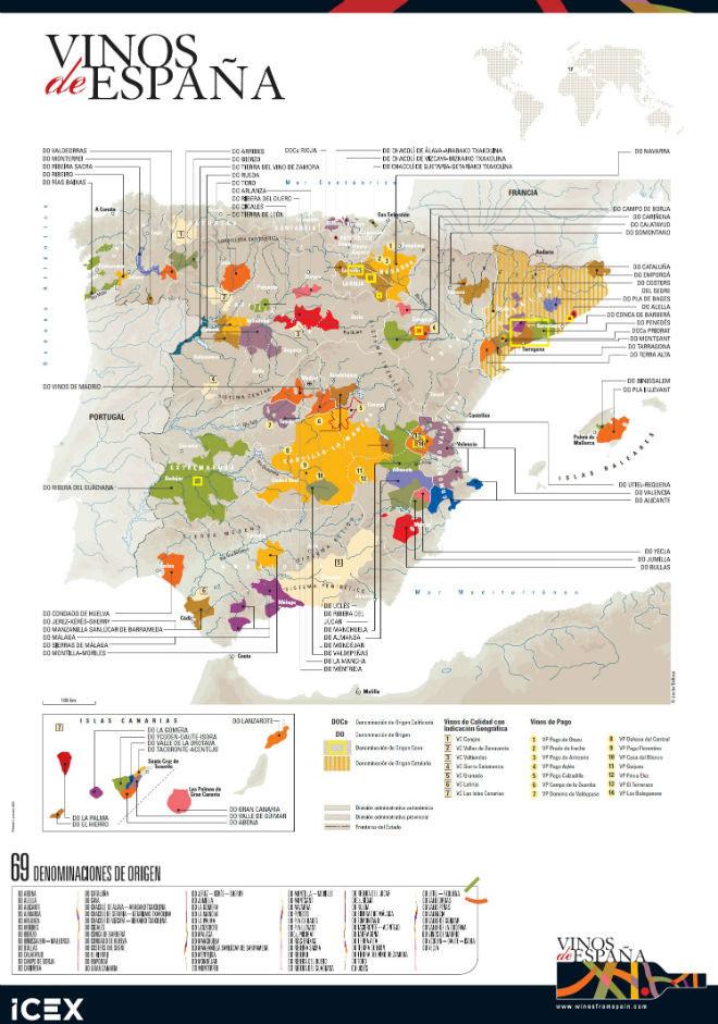 Mapa DO España